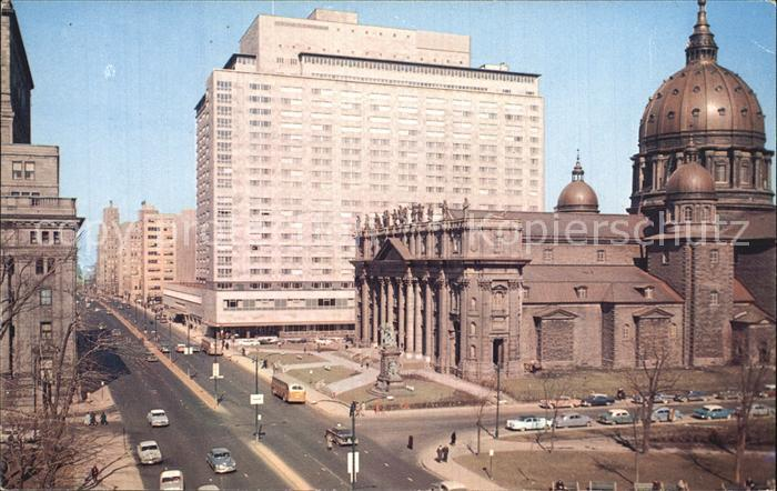 Montreal Quebec Dorchester Street St James Cathedral Queen Elizabeth Hotel Int Aviation Building Kat. Montreal