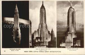 New York City Chrysler Bldg Bank of Manhattan Bldg Empire State Bldg