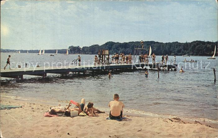 Michigan Lakeside Beach at Spring Lake Kat. Michigan