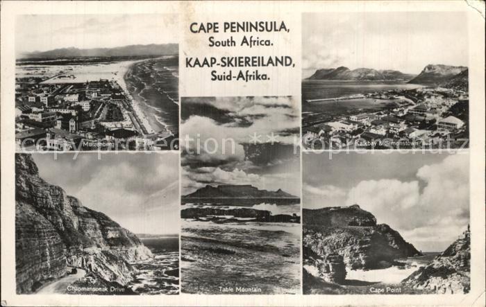 Cape Peninsula Muerzenberg Chapmanspeak Drive Table Mountain Kalkbay and Simonstown Cape Point Kat. Suedafrika