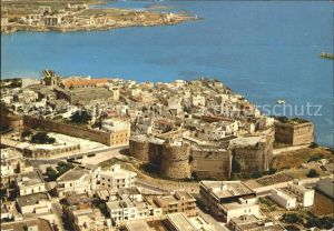 Otranto Italien Fliegeraufnahme Cittadella sul fondo Scogliera della Punta
