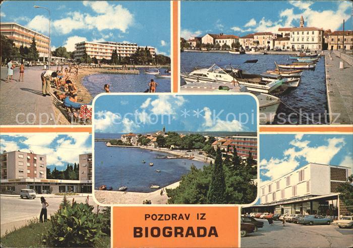 Biograd Strand Promenade Teilansichten