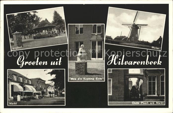 Hilvarenbeek Vrijthof Markt Molen Oude Poort Mee d n Kromme Erm