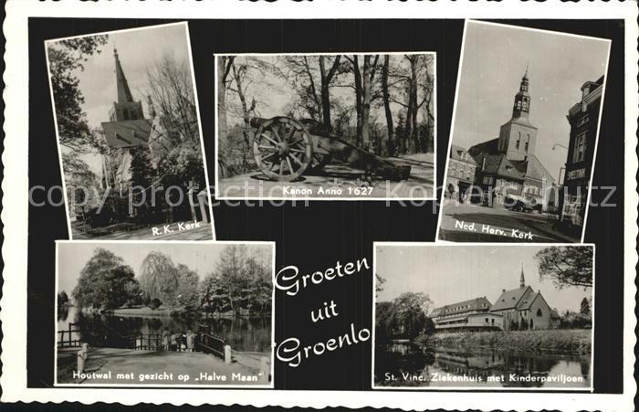 Groenlo Kerk Kanon anno 1627 Houtwal Halve Maan St Vinc Ziekenhuis Kinderpaviljoen