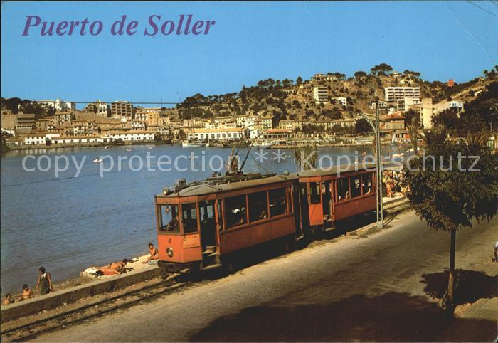 soller mallorca spanien hafen strassenbahn nr kf54401 oldthing ansichtskarten europa spanien. Black Bedroom Furniture Sets. Home Design Ideas