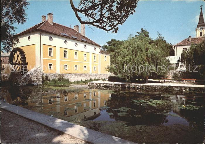 Tapolca Muehlenteich mit Hotel Gabriella