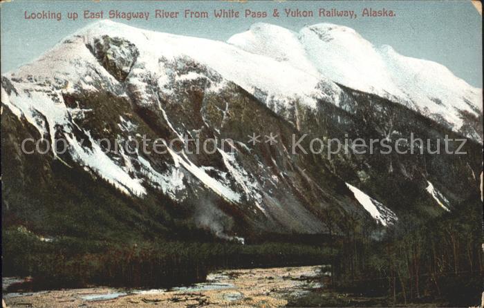 Alaska US State East Skagway River from White Pass and Yukon Railway