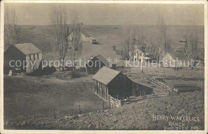 Oregon US State Henry Wakerlig Ranch