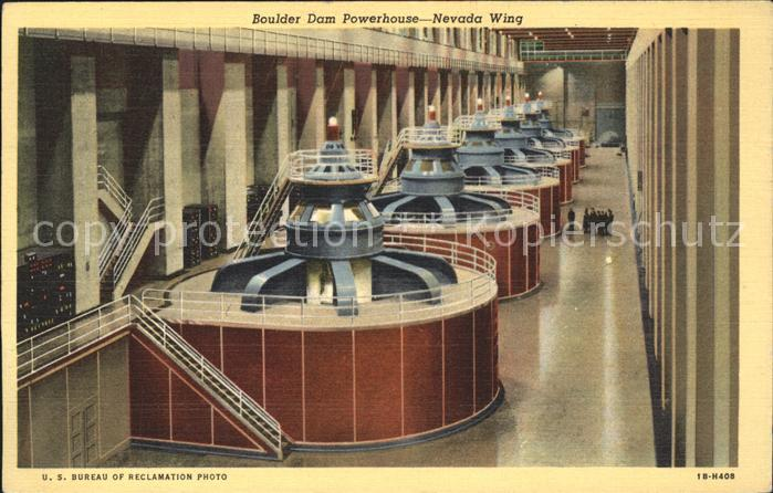 Nevada US State Boulder Dam Powerhouse Hoover Talsperre