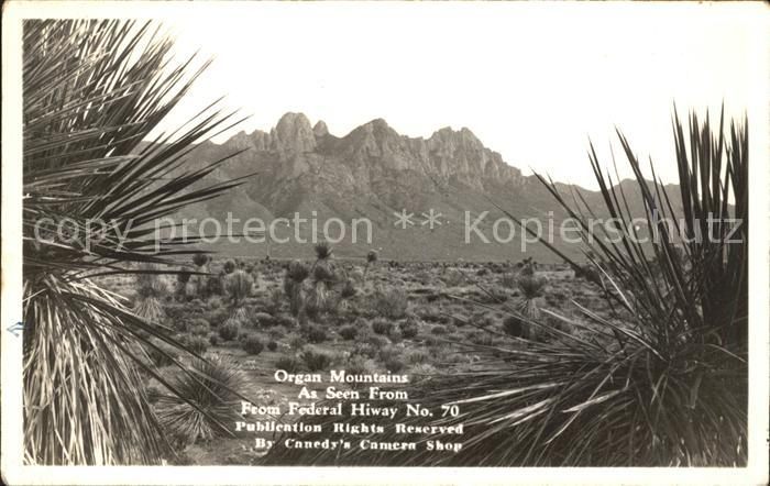 New Mexico US State Organ Mountains Highway Nr. 70