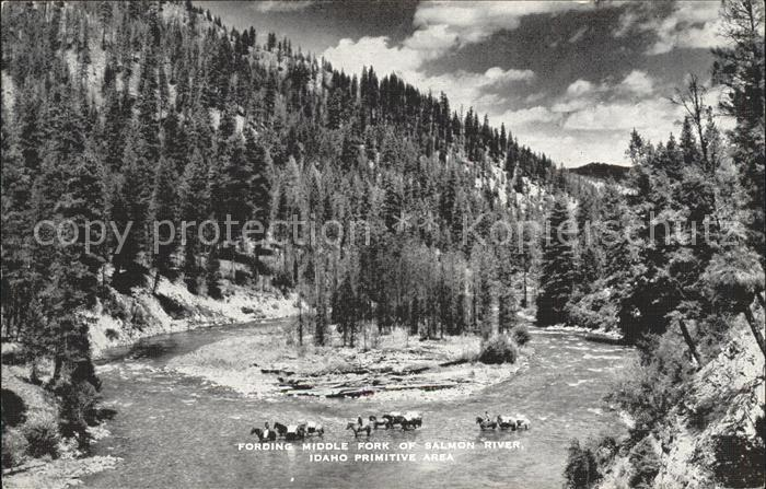 Idaho US State Fording Middle Fork of Salmon River
