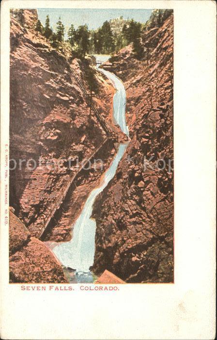 Colorado US State Seven Falls
