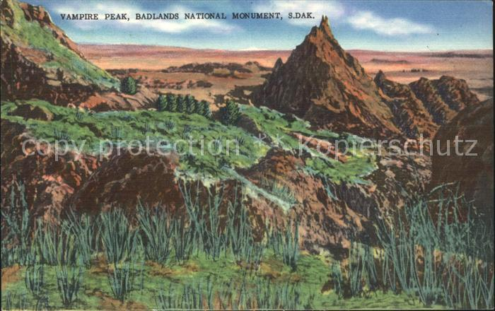 South Dakota US-State Vampire peak, Badlands national monument /  /