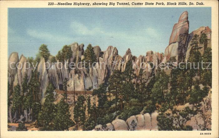 South Dakota US-State Needles Highway Big Tunnel Custer State Park Black Hills  /  /