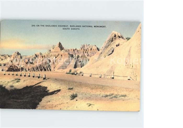 South Dakota US-State on the Badlands Highway National Monument /  /