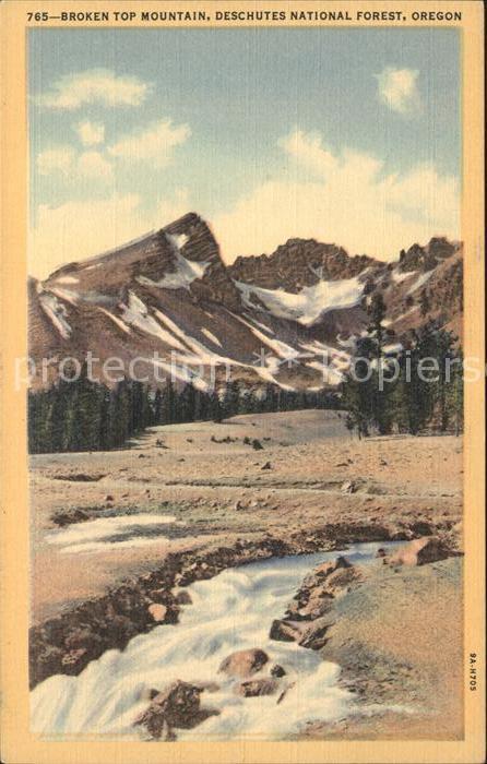 Oregon US State Broken Top Mountain Deschutes National Forest
