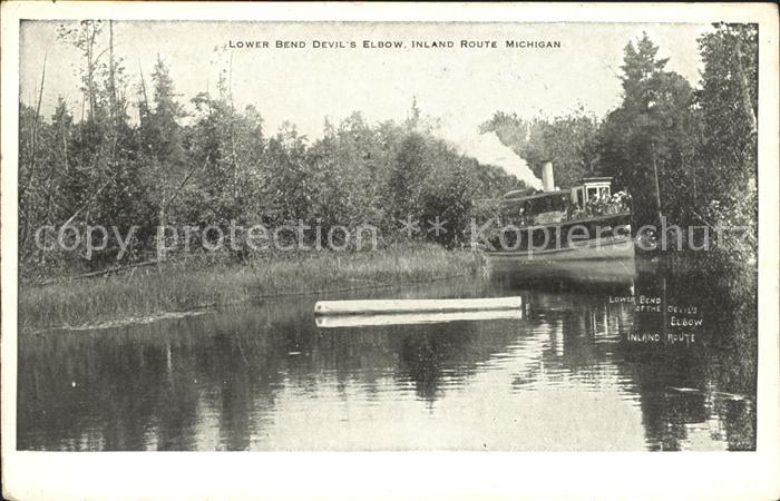 Michigan US State Lower Bend Devils Elbow Inland Water Route