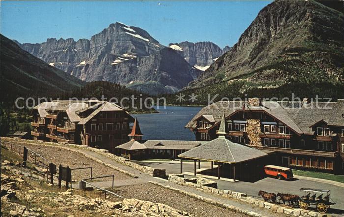 Montana US State Glacier Hotel Swift Current Lake