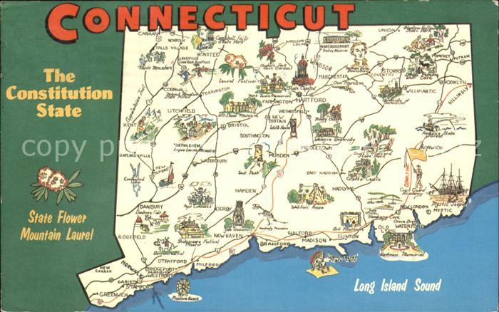 Connecticut US State Lapeplan