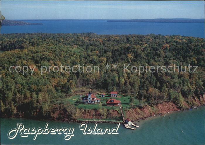 Minnesota US State Fliegeraufnahme Raspberry Island