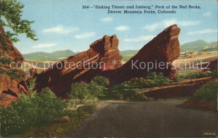 Colorado US State Denver Mountain Parks Sinking Titanic and Iceberg Rocks