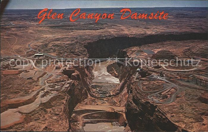 Colorado US State Glen Canyon Damside