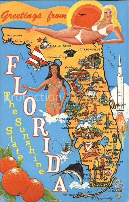 Florida US State Map of the Sunshine State