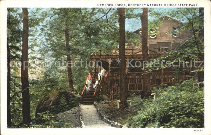 Kentucky US State Natural Bridge State Park Hemlock Lodge