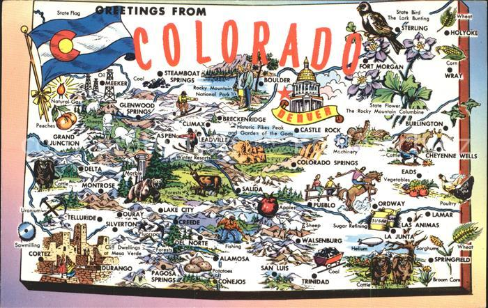 Colorado US State Map of the Centennial State