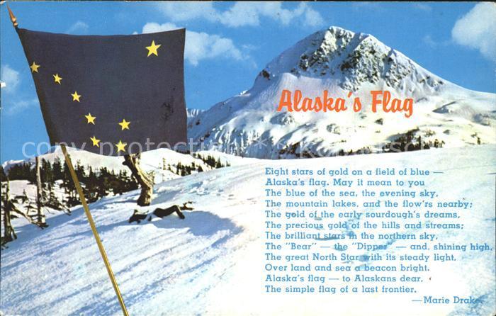 Alaska US State The 49th State Flag Poem Marie Drake Mountains
