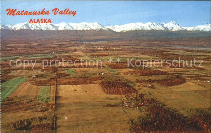 Alaska US State Matanuska Valley Fliegeraufnahme
