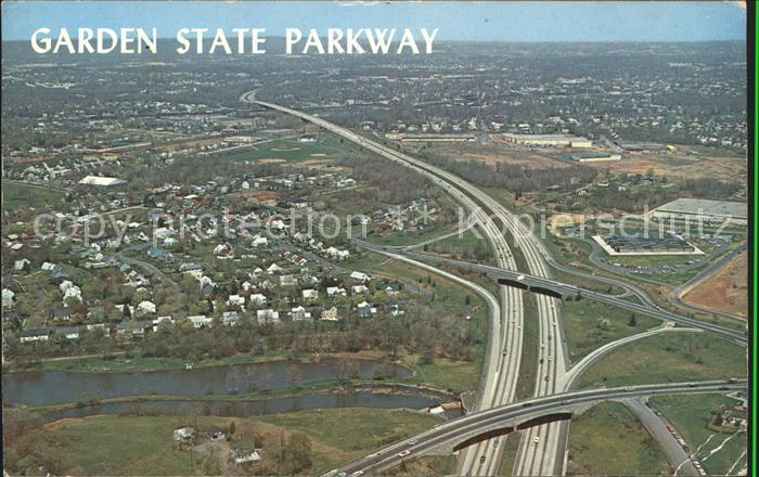 New Jersey US State Garden State Parkway Highway aerial view