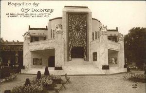 Exposition Arts Decoratifs Paris 1925 Pavillon des Galeries Lafayette  /  /