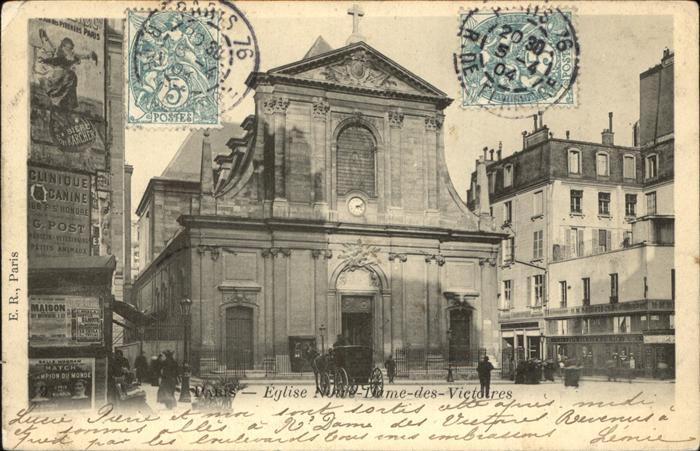 Kirchen Gebaeude Paris Eglise Notre Dame des Victoires Kat. Gebaeude