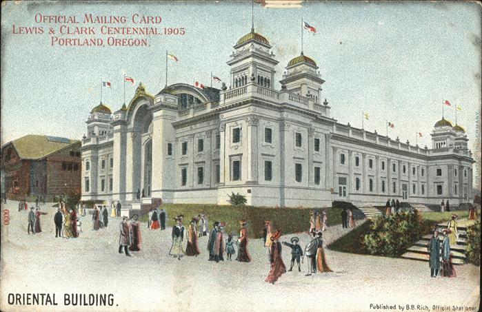 Portland Oregon Oriental Building Lewis & Clark Centennial 1905 / Portland /