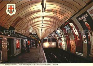 U Bahn Subway Underground Oxford Circus Underground Station Victoria Line London Kat. Bahnen