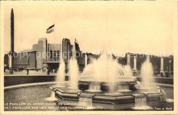 Exposition Bruxelles 1935 Pavillon du Grand Duche de Luxembourg Kat. Expositions