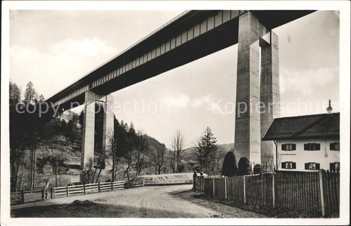 Bruecken Bauwerke Mangfallbruecke Reichsautobahn Muenchen Landesgrenze Kat. Bruecken