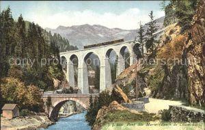 Bruecken Bauwerke Pont Ste Marie Route de Chamonix Kat. Bruecken