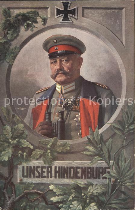 Militaria Generaele Stab Deutschland unser von hindenburg mit feldstecher rotkreuz  / Militaria /