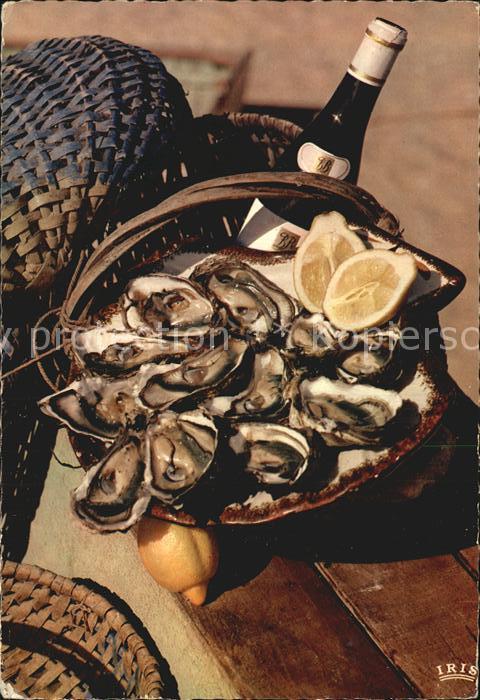Meerestiere Austern Weisswein Frankreich  Kat. Tiere