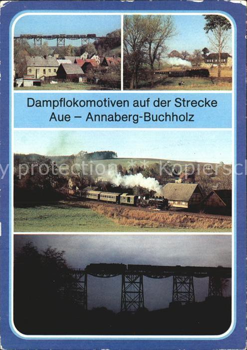 Lokomotive Strecke Aue Annaberg Buchholz Kat. Eisenbahn