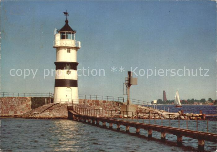 Leuchtturm Lighthouse Friedrichsort Kiel  Kat. Gebaeude