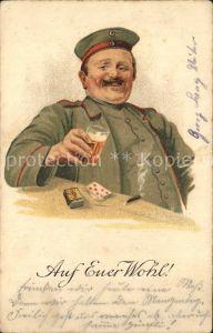 Militaria Kartenspiel Auf Euer Wohl Bier Kartenspiel WK1