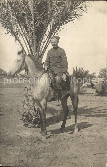 Militaria Kolonien Coloniale Soldat auf dem Pferd