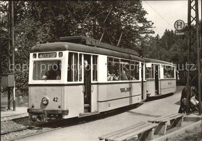 Strassenbahn 50 Jahre Thueringerwaldbahn Tw 42 Haltestelle Reinhardsbrunn  Kat. Strassenbahn