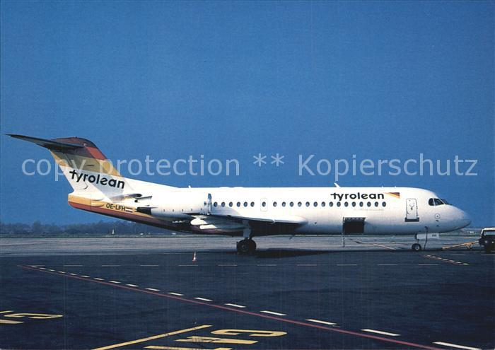 Flugzeuge Zivil Tyrolean Fokker 70 OE LFH cn 11554 Kat. Airplanes Avions
