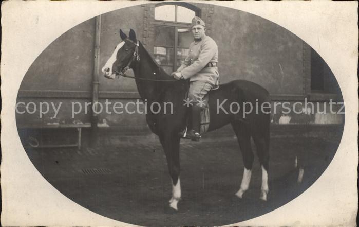 Militaria Kavallerie WK1 Soldat auf Pferd  / Militaria /