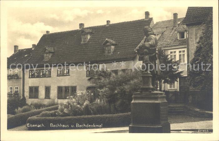 Bach Johann Sebastian Eisenach Bachhaus Bachdenkmal  Kat. Komponist