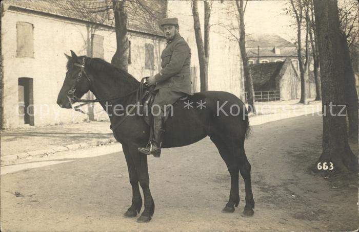 Militaria Kavallerie Soldat auf dem Pferd WK1 / Militaria /